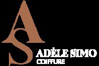 Adele Simo Salon de coiffure afro à Bruxelles logo blanc